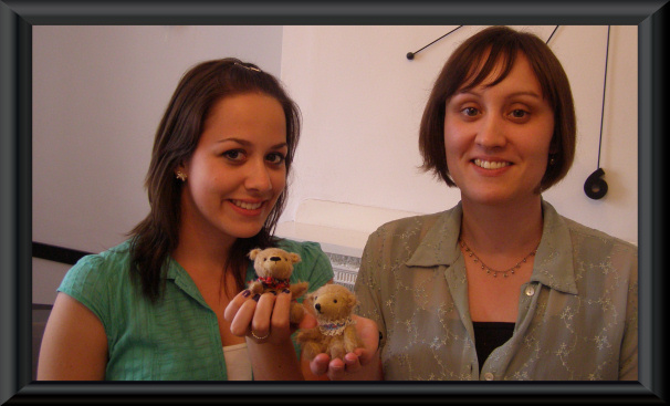 Paula and Amy with their finished bears